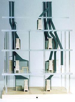 Modell des Kaminsystems im Haus Am Bassin 3